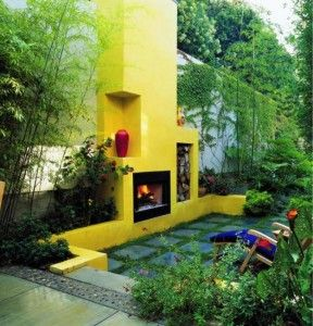 yellow-fireplace