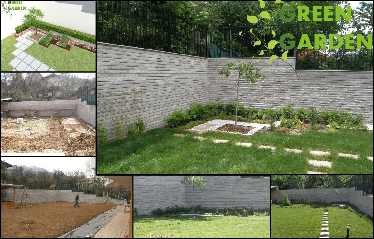 Design and building of gardens in Dragalevtsi. Building irrigation systems. Maintenance.